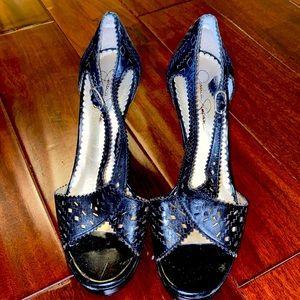 Jessica Simpson strappy black heels